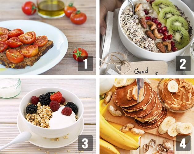Opciones de desayunos saludables